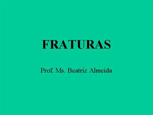 Curso Online de FRATURAS