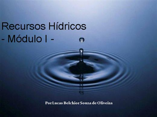 Curso Online de Recursos Hídricos - Módulo I