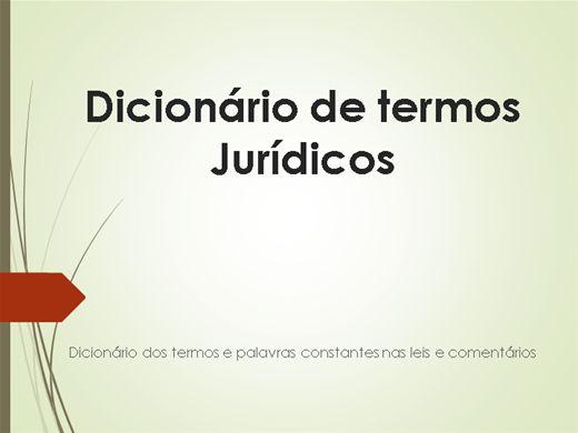 Curso Online de Dicionário de Termos Jurídico