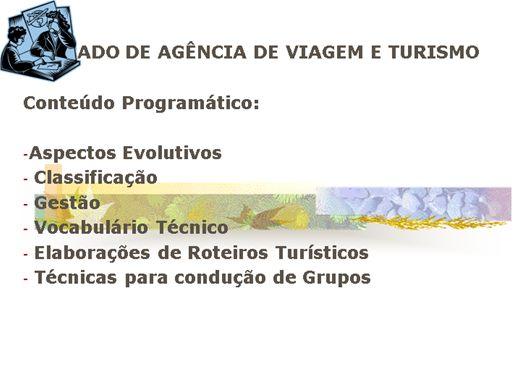 Curso Online de Mercado de Agência de Viagens e Turismo: teorias e técnicas