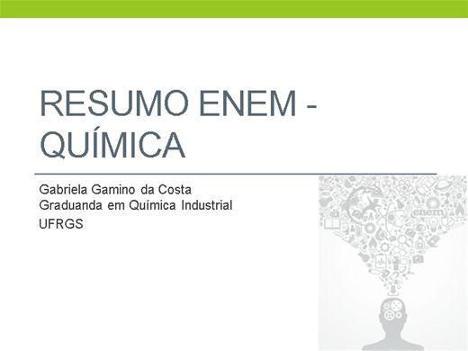 Curso Online de Resumo ENEM - Química