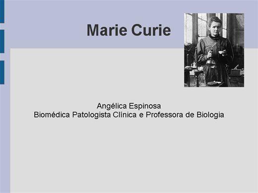 Curso Online de  Marie Curie e a Radioatividade