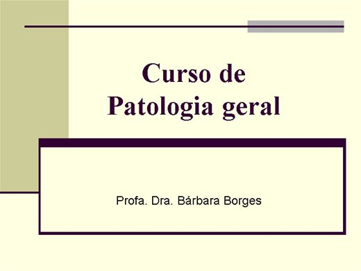 Curso Online de Curso de Patologia geral