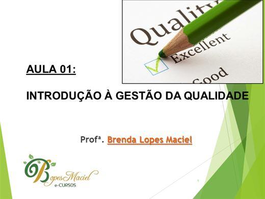 Curso Online de GESTÃO DE QUALIDADE- 8H