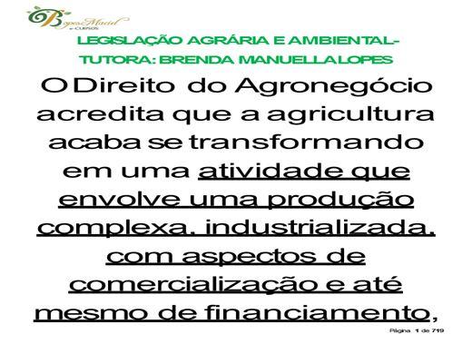 Curso Online de LEGISLAÇÃO  AGRÁRIA  E  AMBIENTAL- COMPLETO