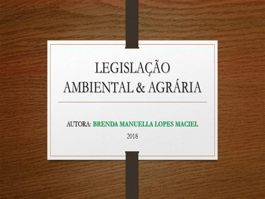 Curso Online de LEGISLAÇÃO AMBIENTAL E AGRÁRIA: Ênfase no Agronegócio