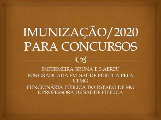 Curso Online de IMUNIZAÇÃO 2020/ PARA CONCURSO