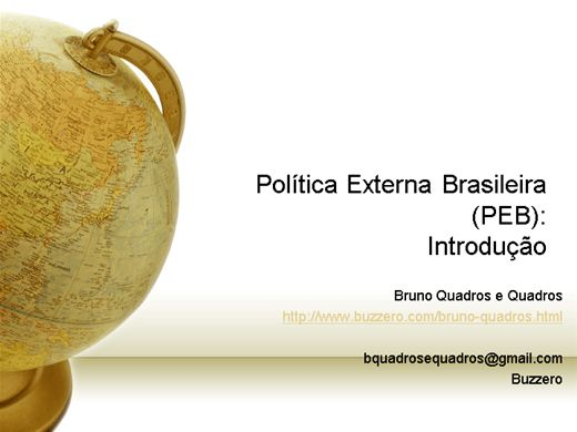 Curso Online de Introdução à Política Externa Brasileira