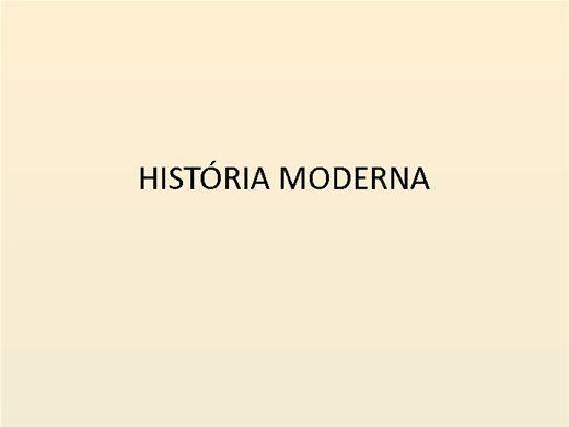 Curso Online de História Moderna
