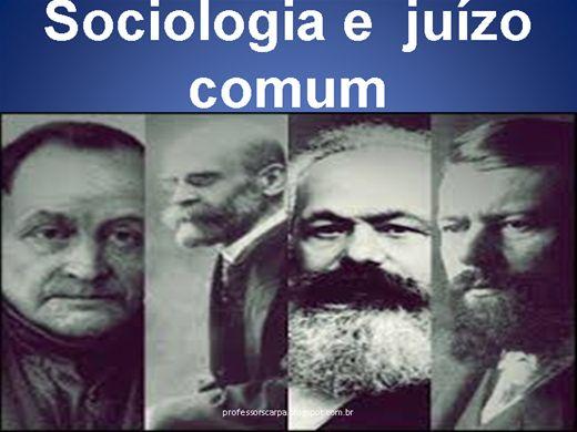 Curso Online de SOCIOLOGIA E JUÍZO COMUM