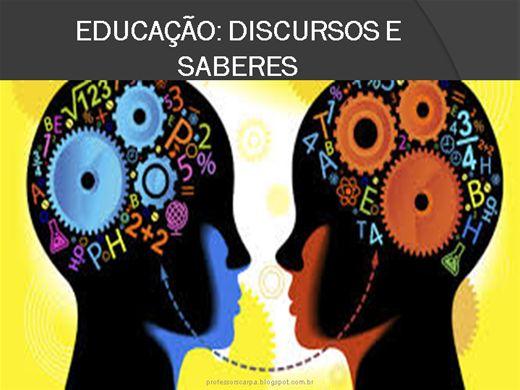 Curso Online de EDUCAÇÃO: DISCURSOS E SABERES