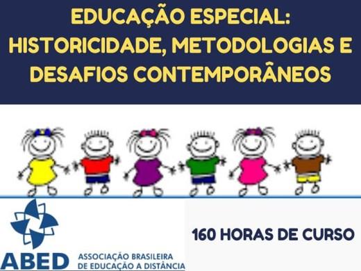 Curso Online de EDUCAÇÃO ESPECIAL: HISTORICIDADE, METODOLOGIAS E DESAFIOS CONTEMPORÂNEOS