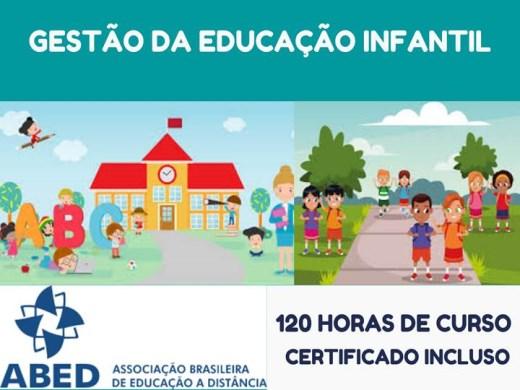 Curso Online de GESTÃO DA EDUCAÇÃO INFANTIL