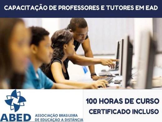 Curso Online de CAPACITAÇÃO DE PROFESSORES E TUTORES EM EAD