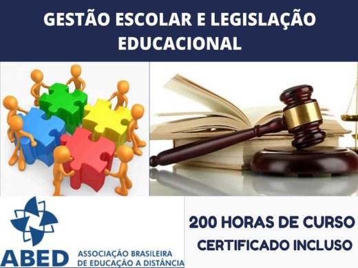 Curso Online de GESTÃO ESCOLAR E LEGISLAÇÃO EDUCACIONAL