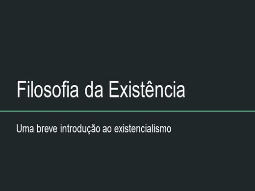 Curso Online de Filosofia da Existência