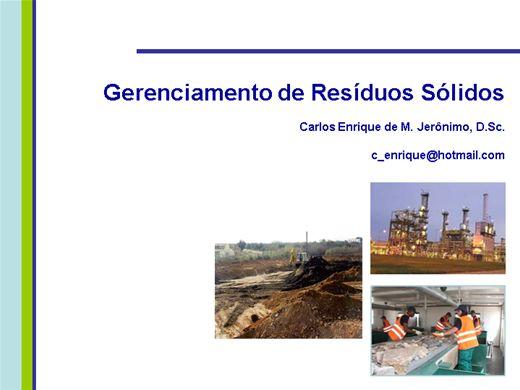 Curso Online de Gerenciamento de Residuos Solidos