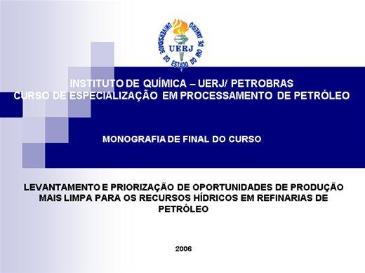 Curso Online de Produção mais limpa em processos petroquimicos