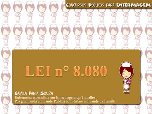 Curso Online de Lei 8.080 e 8.142