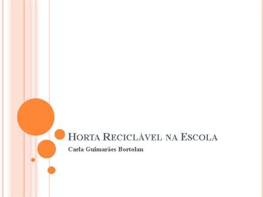 Curso Online de Horta Reciclável na Escola