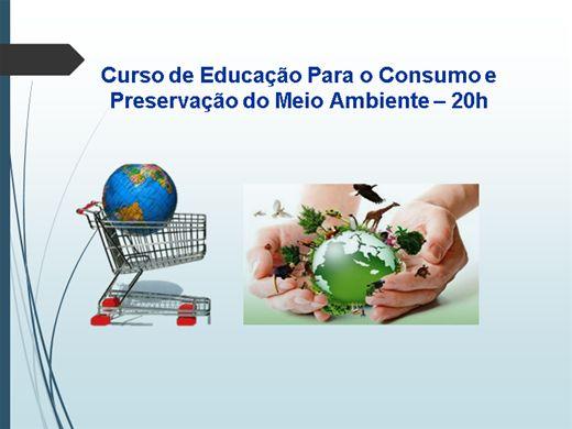Curso Online de Curso de ducação para o consumo e meio ambiente