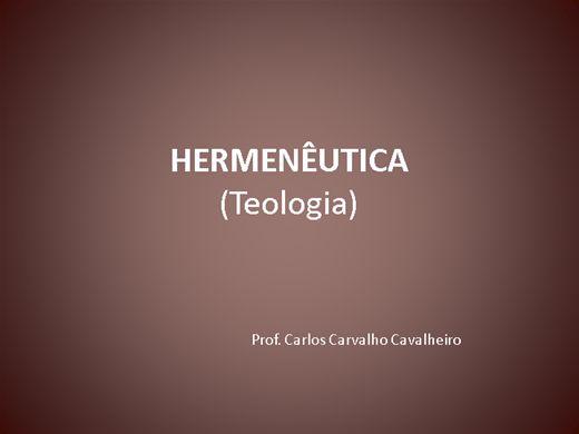 Curso Online de Hermenêutica - Teologia