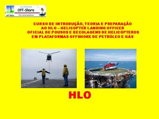 Curso Online de HLO - HELICOPTER LANDING OFFICER EM PLATAFORMAS OFFSHORE - INTRODUÇÃO, PREPARAÇÃO E TEORIA