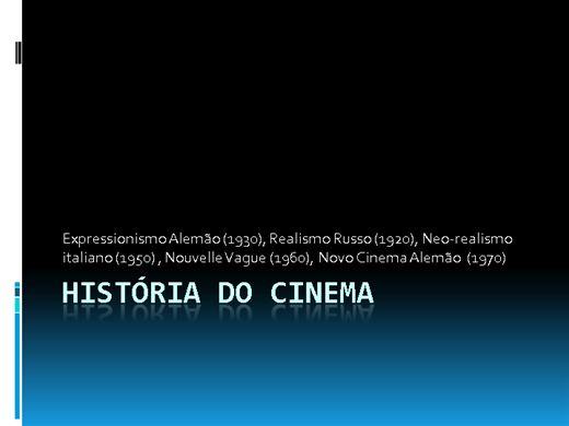 Curso Online de História do Cinema I