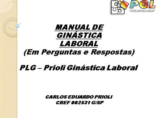Curso Online de Manual de Ginástica Laboral