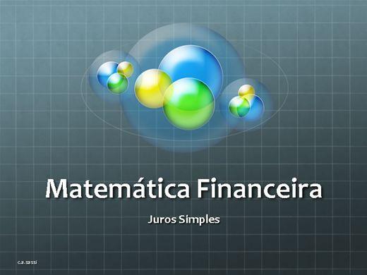 Curso Online de Juros Simples