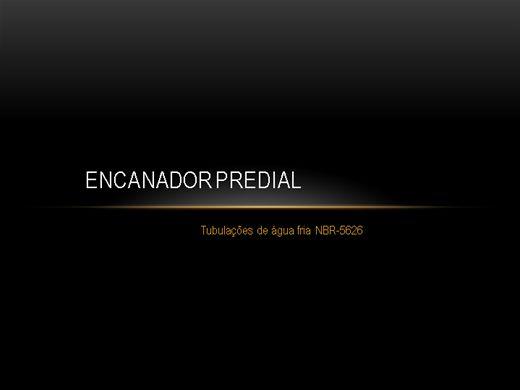 Curso Online de Encanador Predial conceitos práticos