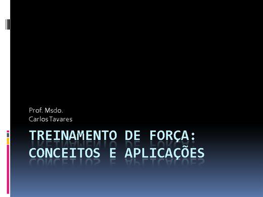 Curso Online de Treinamento de Força: Conceitos e Aplicações