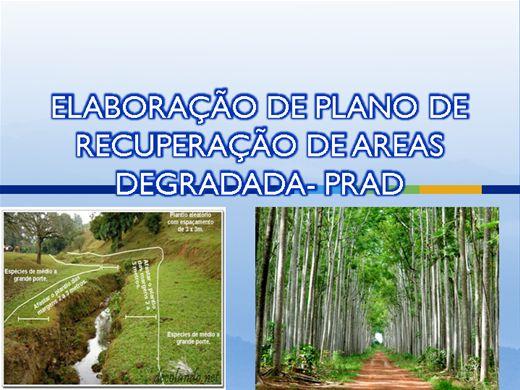 Curso Online de PLANO DE RECUPERAÇÃO DE AREA DEGRADADA
