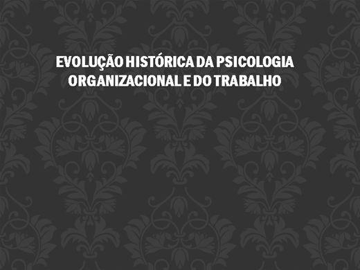 Curso Online de Psicologia Organizacional ou do trabalho