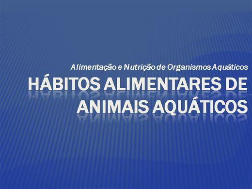 Curso Online de Hábitos Alimentares de Animais Aquáticos