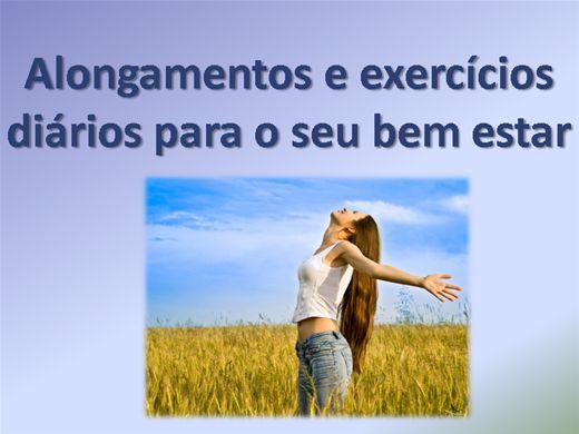 Curso Online de Alongamentos e exercícios diários para o seu bem estar