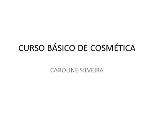 Curso Online de CURSO BÁSICO DE COSMÉTICA COM CERTIFICADO