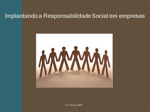 Curso Online de Implantando a Responsabilidade Social em empresa