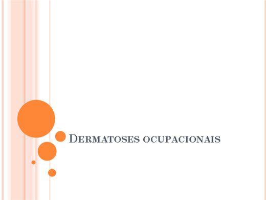 Curso Online de Dermatoses Ocupacionais