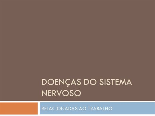 Curso Online de Doenças do Sistema Nervoso