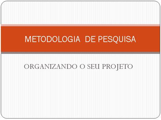 Curso Online de METODOLOGIA DE PESQUISA