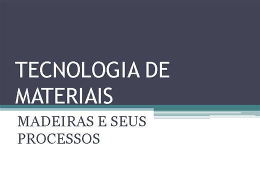 Curso Online de TECNOLOGIA DE MATERIAIS - MADEIRA