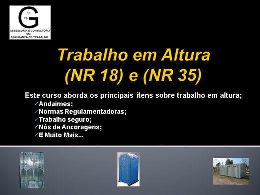 Curso Online de NR 35 e NR 18 Segurança no Trabalho em Altura