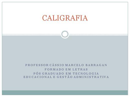 Curso Online de Caligrafia tecnica