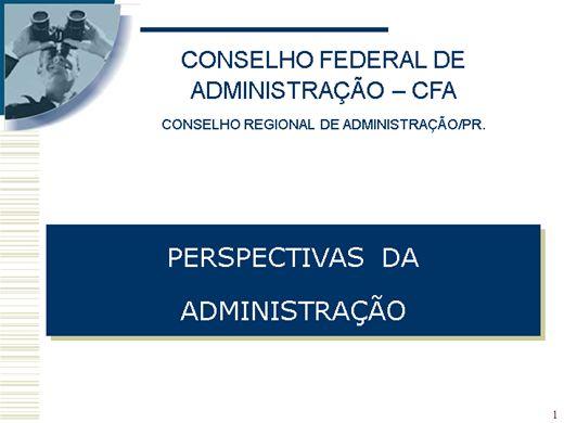 Curso Online de perspectivas administração