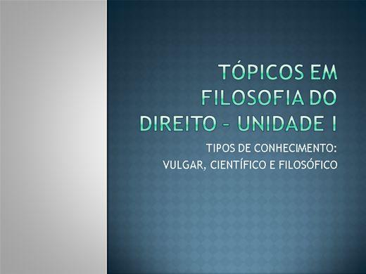Curso Online de TÓPICOS EM FILOSOFIA DO DIREITO - UNIDADE I