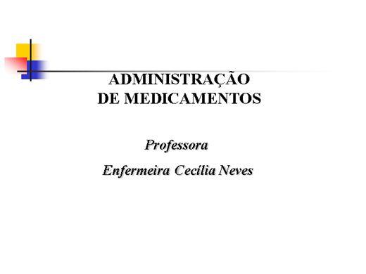 Curso Online de Vias de Administração de medicamentos
