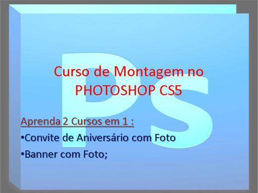 Curso Online de Photoshop CS5_2 em 1_Convite e Banner com Foto
