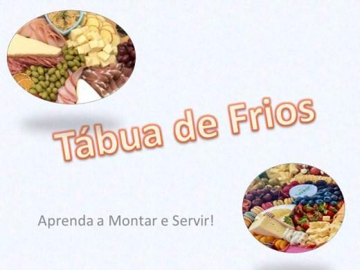 Curso Online de TÉCNICAS PARA MONTAGEM TÁBUA DE FRIOS