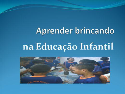 Curso Online de Aprender brincando na educação infantil